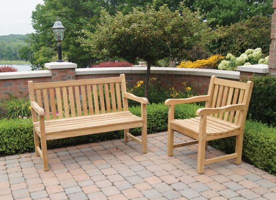 English Garden Bench Teak Boutique