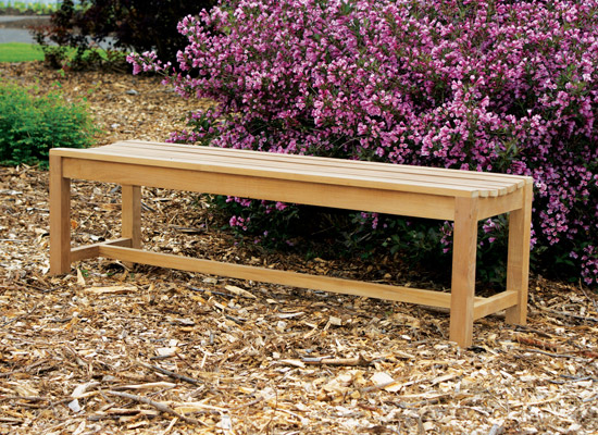 3′ Backless Bench
