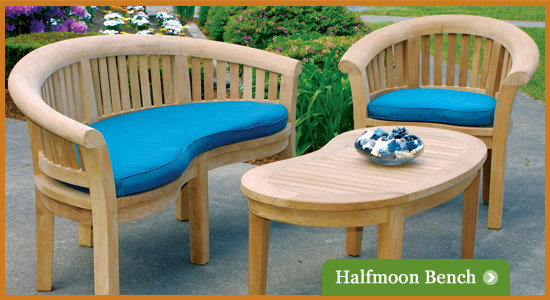 Half Moon Bench Set